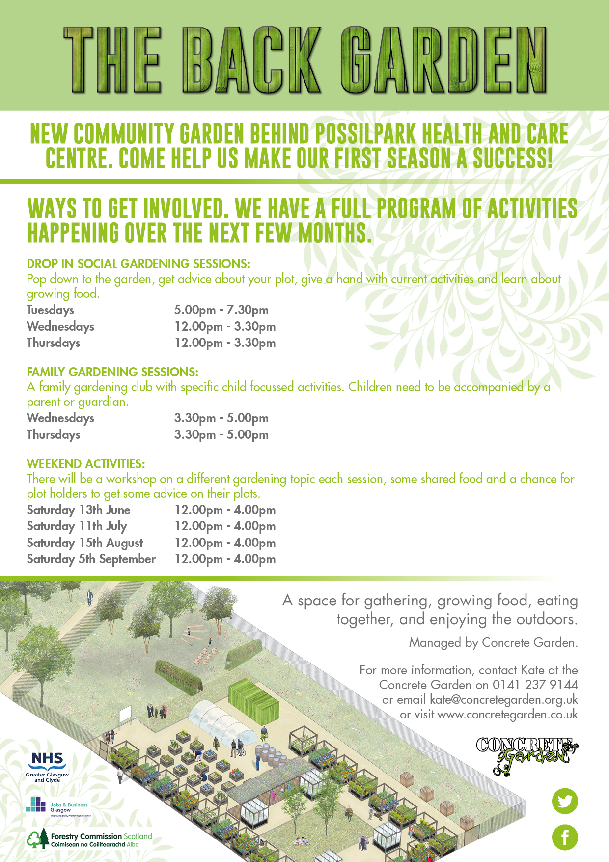 New community garden in Glasgow holding events throughout